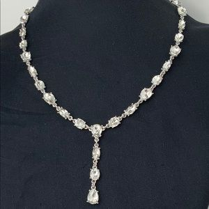 Charter Club Y Clear Crystal Necklace
